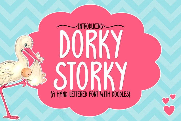 Dorky Storky - A Smooth Hand Lettered Font w/ Doodles by DWS