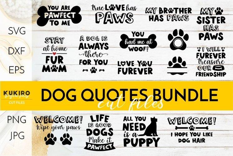 Dog Quotes SVG BUNDLE - Love my dog - Welcome mat - Dog bowl