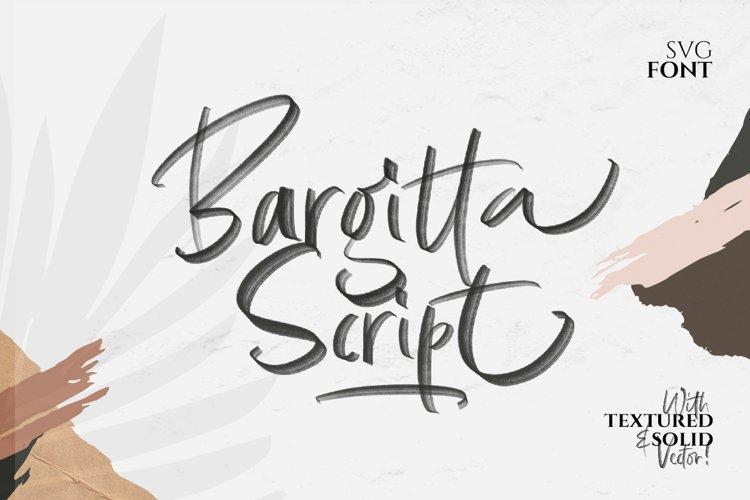 Bargitta Script SVG Font example image 1