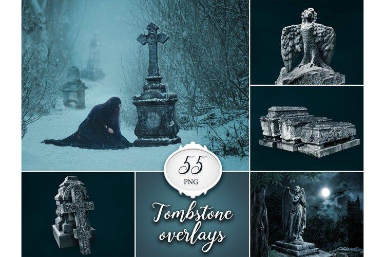 55 Tombstone Photo Overlays