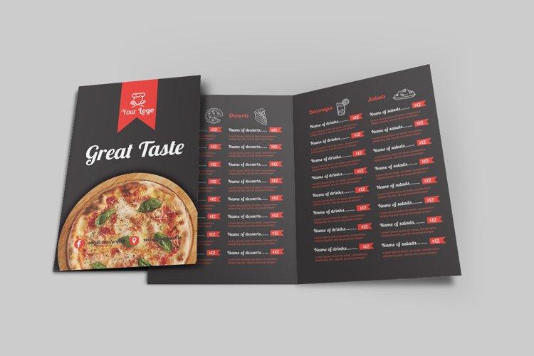 Food Menu Bi-Fold Brochure example image 1