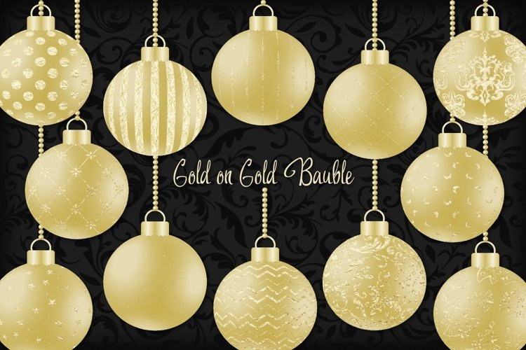 Gold on Gold Christmas Bauble example image 1