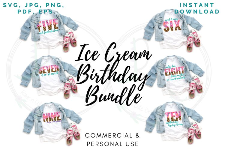 Ice Cream Birthday 5-10 Bundle