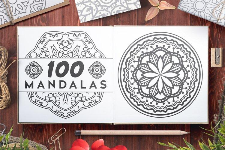 100 Vector Mandala Ornaments example image 1