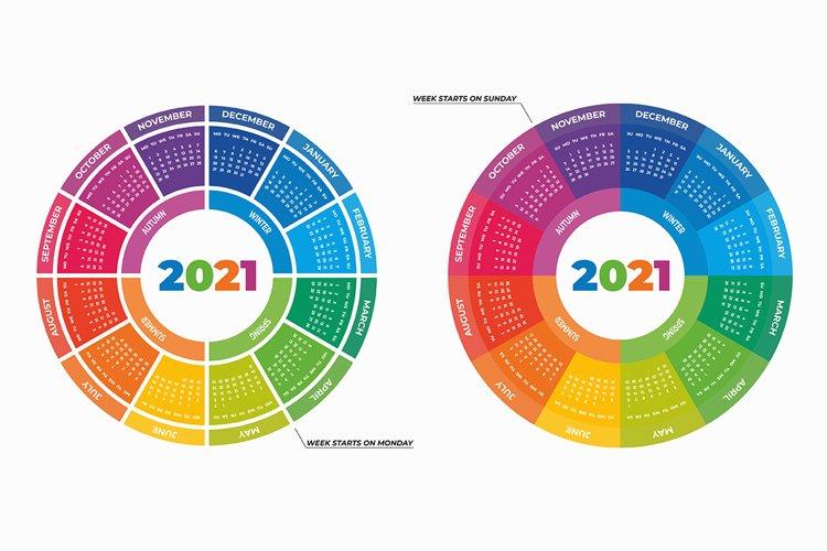 Round calendar 2021