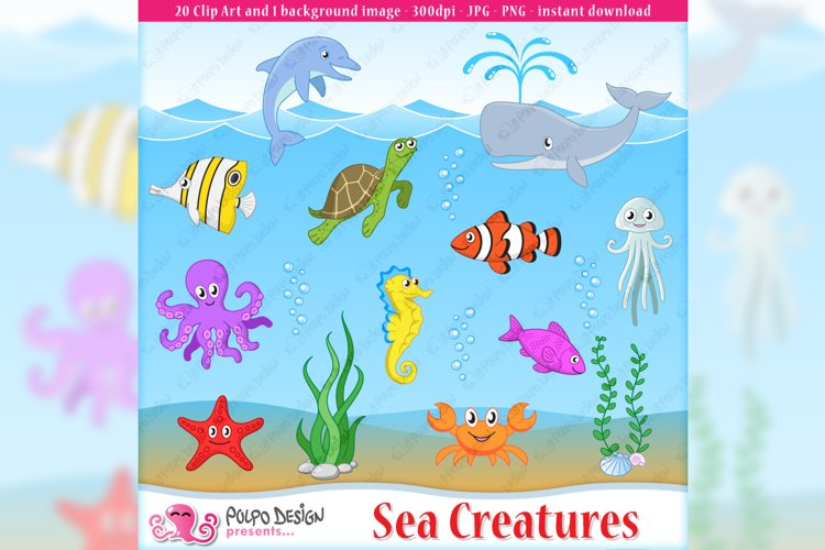 Sea Creatures clip art example image 1