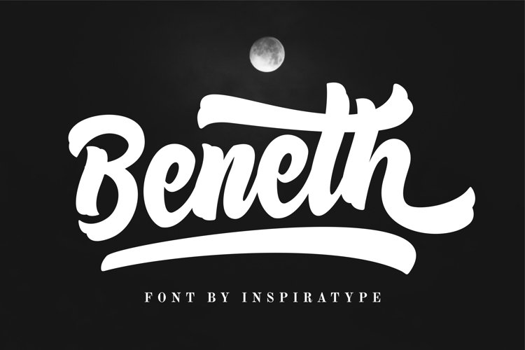 Beneth - Script Font example image 1