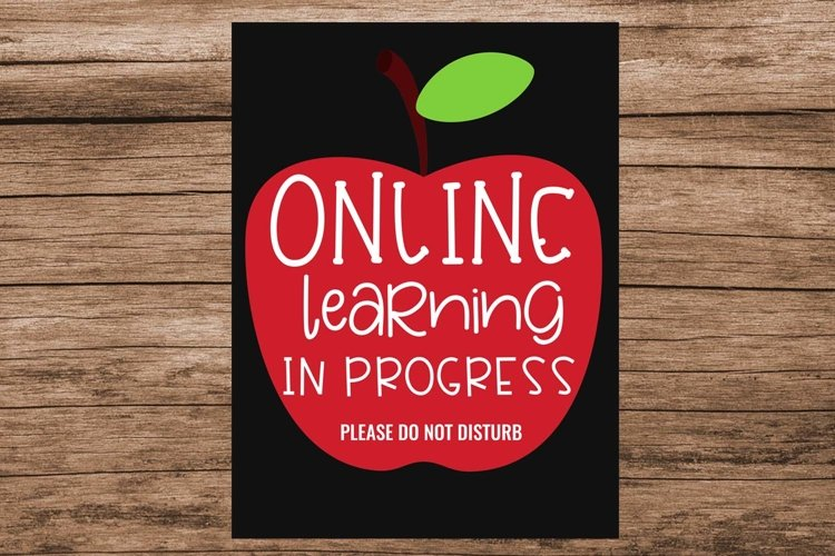 Online Learning in Progress Do Not Disturb Sign- Virtual example image 1