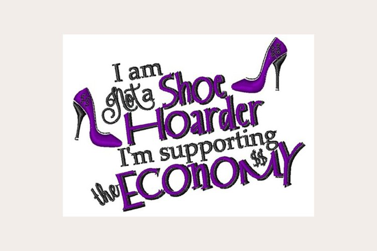 Shoe Hoarder - Machine Embroidery Design example image 1