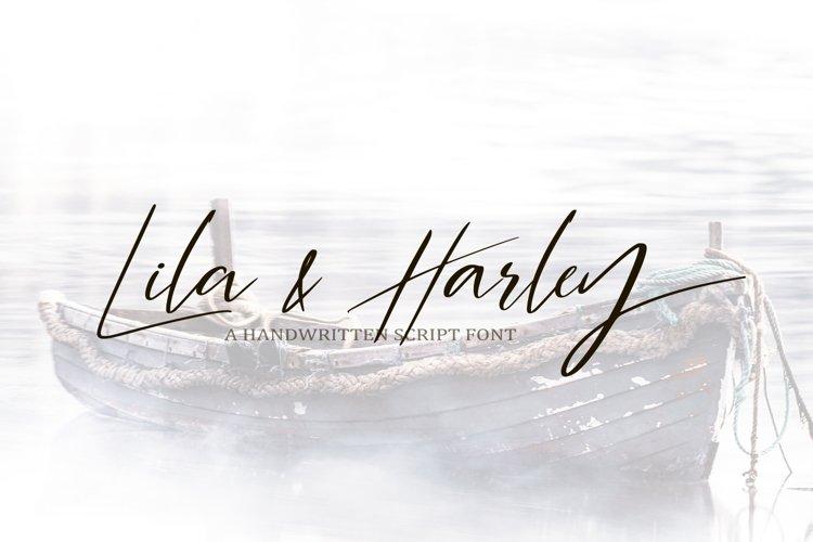 Web Font Lila & Harley. Signature font example image 1