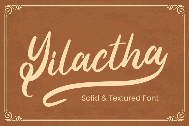 Yilactha - Script Font example image 1