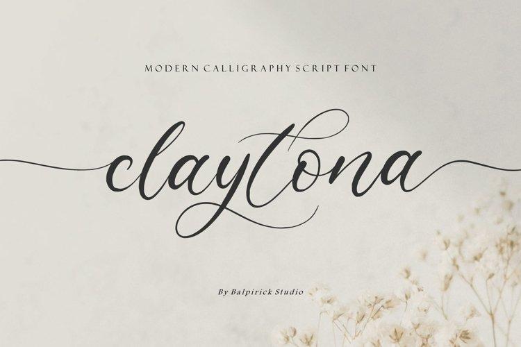 claytona Modern Calligraphy Script Font example image 1