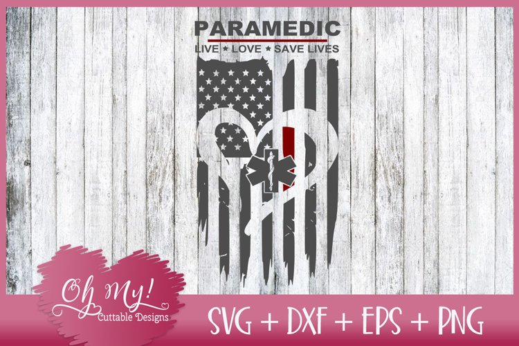 Paramedic Distressed Flag - SVG DXF EPS PNG Cutting File