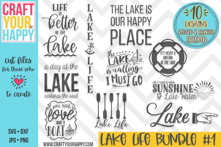REVISED-The Lake Life #1- A Summer/Lake SVG Cut File Bundle