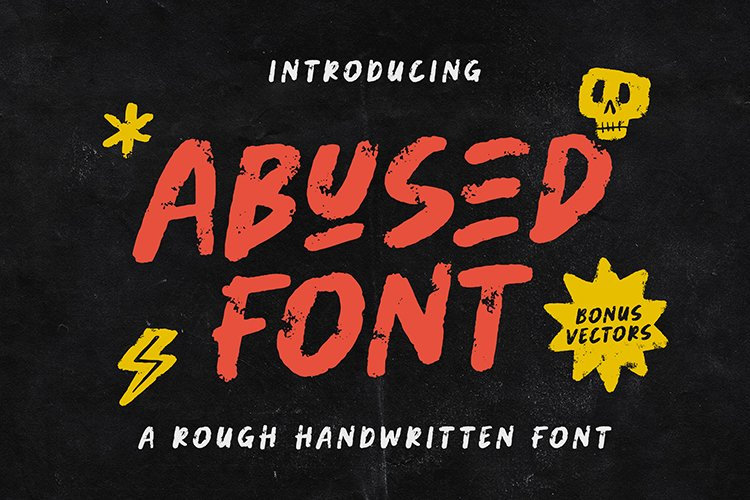 Abused Font