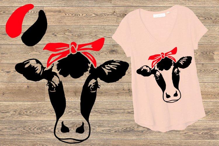 Cow Head whit Bandana SVG, cowboy western Farm Milk 776S