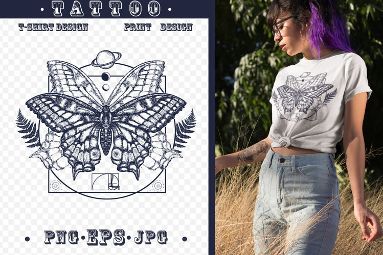 Magic butterfly tattoo example image 1