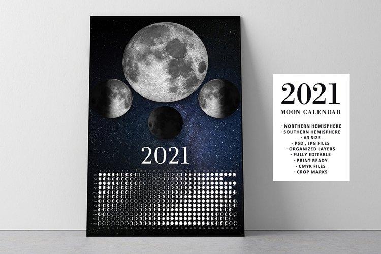 Real Moon Calendar 2021