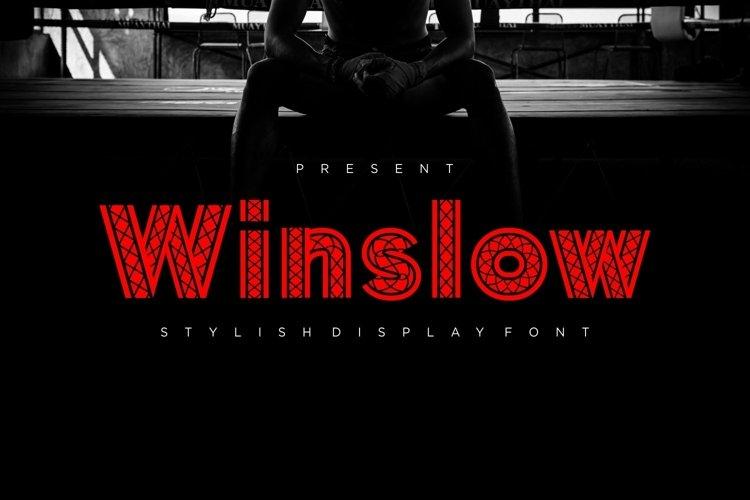 Web Font Winslow - Stylish Display Font example image 1