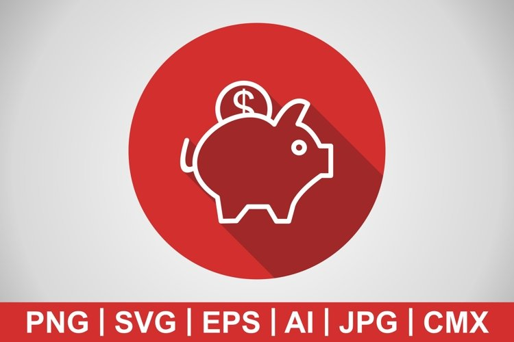 Vector Piggy Bank Icon example image 1