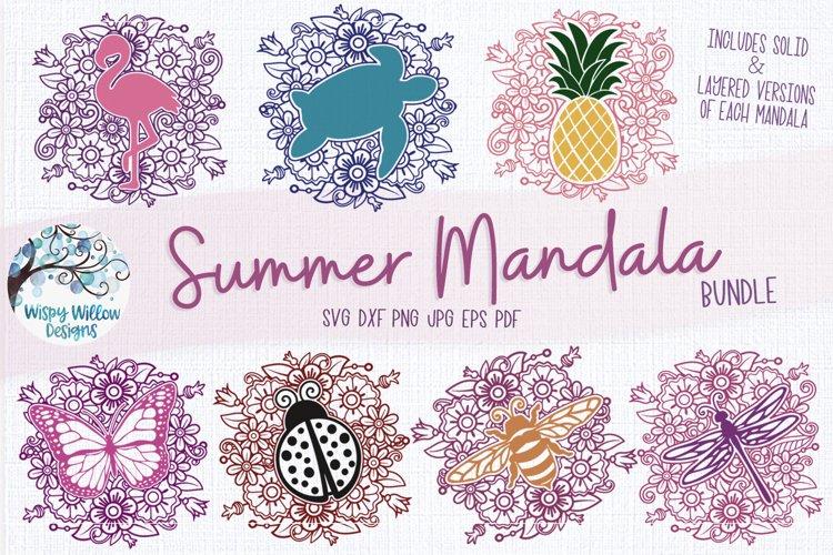 Summer Mandala SVG Bundle| Butterfly, Turtle, Bee, Flamingo