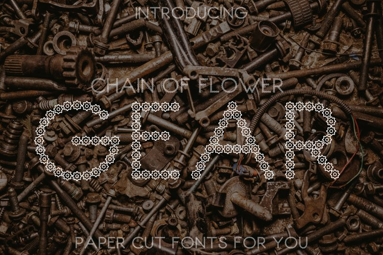 Chain of Flower Gear Font example image 1