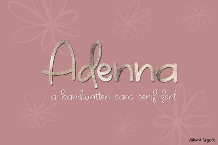 Adenna- a bold and bouncy handwritten font example image 1