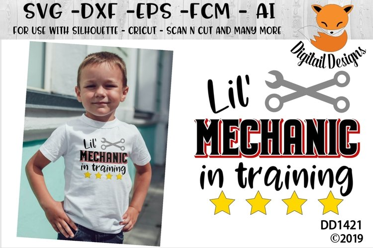 Lil' Mechanic In Training Boys SVG example image 1