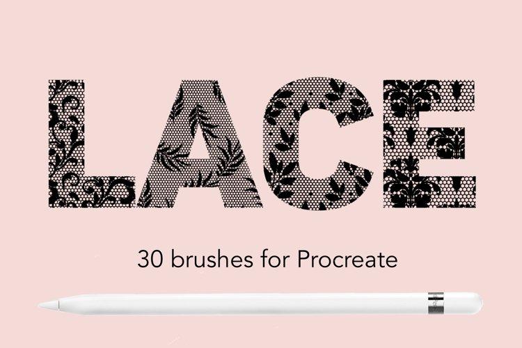 Lace pattern procreate brushes example image 1