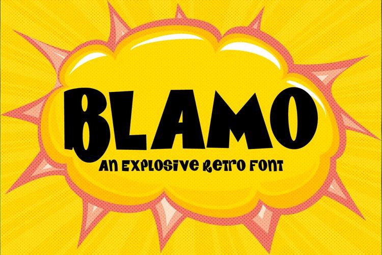 BLAMO - an explosive cartoon style font example image 1