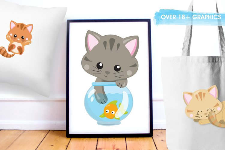 Adorable Kitties graphics and illustrations - Free Design of The Week Design3