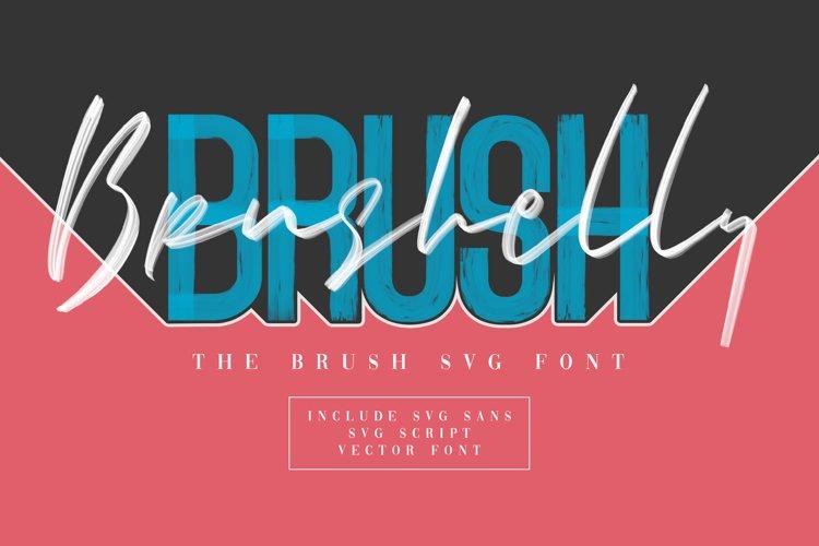 Brushelly SVG Brush Font example image 1