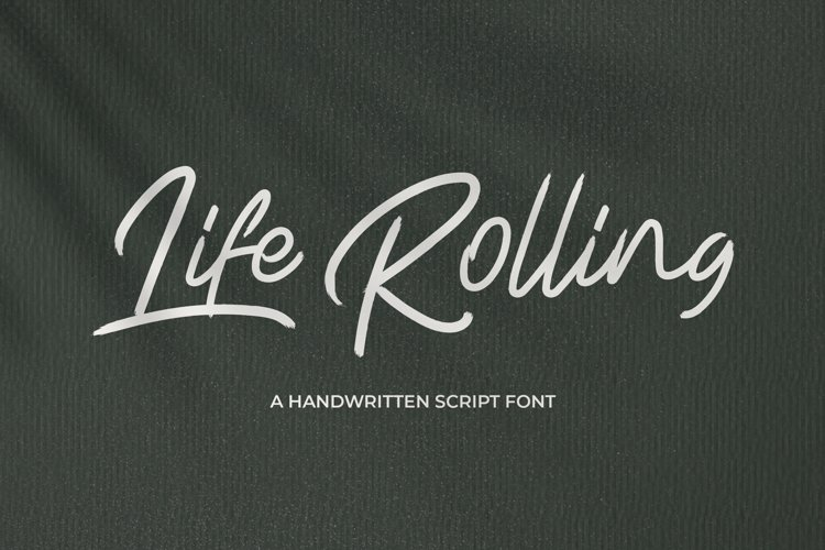 Life Rolling - Handwritten Script Font example image 1