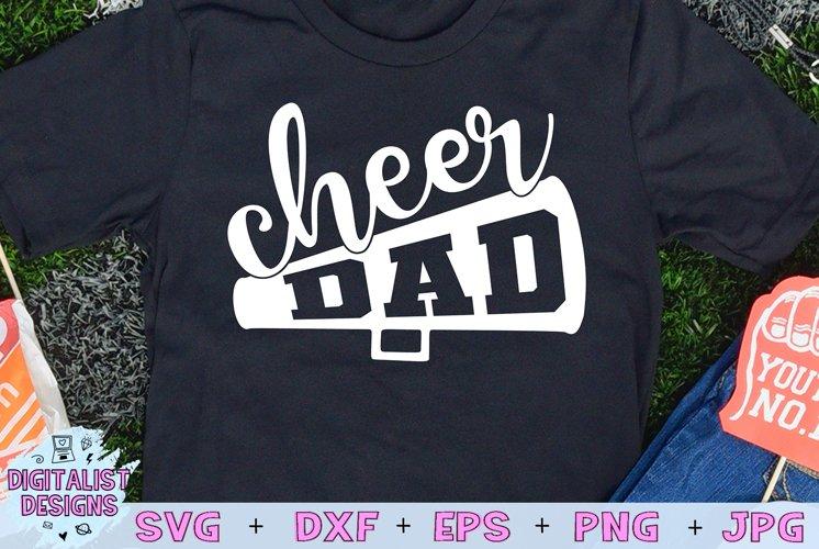 Cheerleader SVG | Cheer Dad SVG | Megaphone SVG
