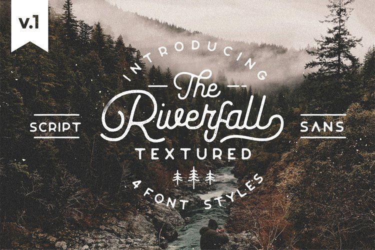 Riverfall Rounded Textured Typeface Ver.1 example image 1