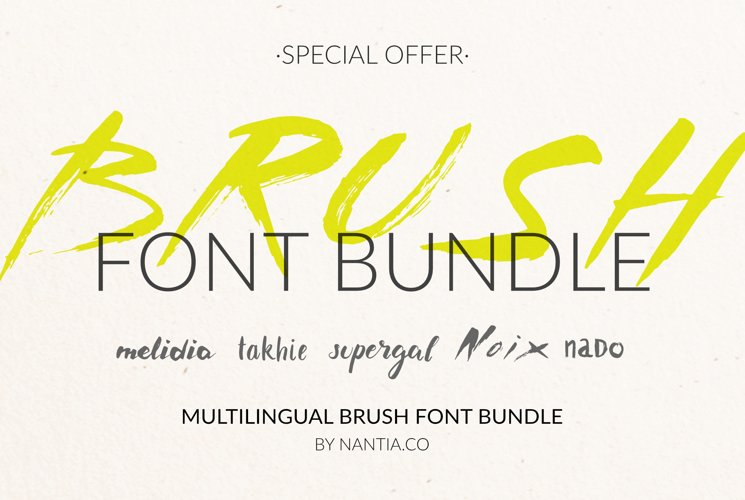 Brush Font Pack example image 1