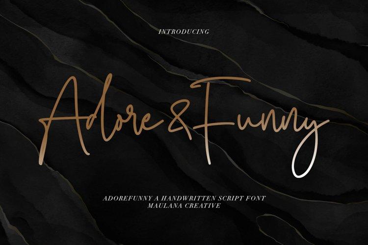 Adorefunny Handwritten Script Font example image 1