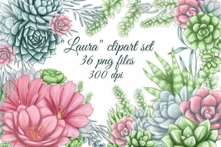 Succulent clipart, cute cacti png, succulent bouquet clipart