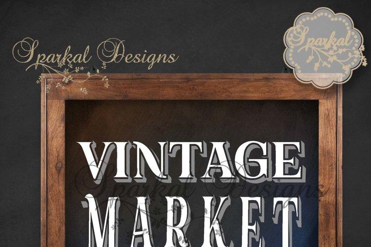 Vintage Market Cutting Stencil