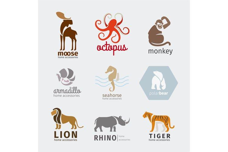 Animals vector logos example image 1