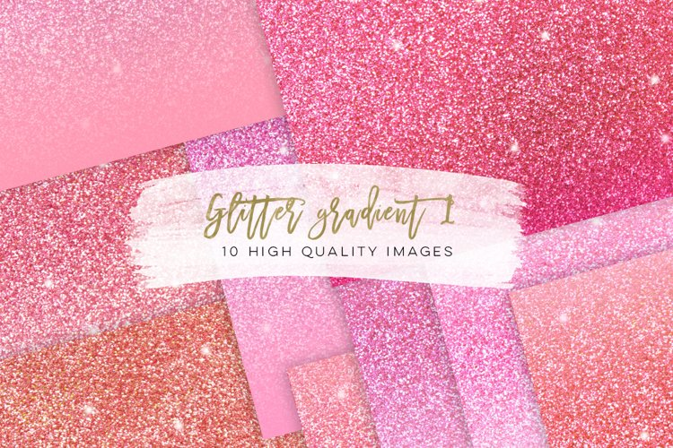 Pastel blush pink ombre paper, pastel pink glitter paper, rose gold paper, Glitter gradient paper, Rainbow glitter digital paper ombre, example image 1