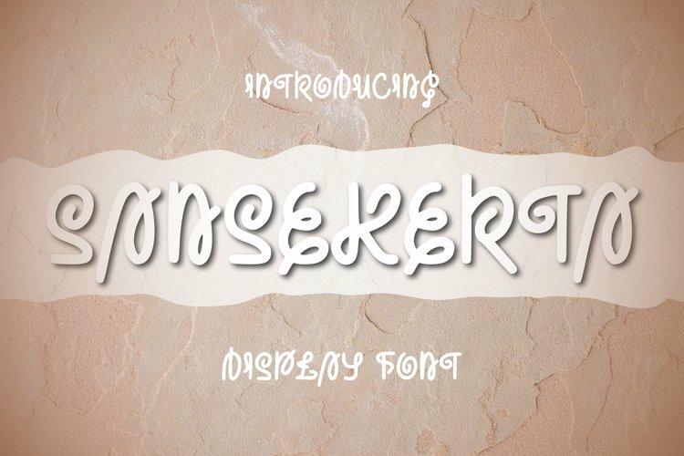 Sansekerta Font example image 1