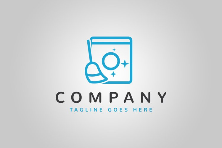 Laundry and Cleaning Logo Template example image 1