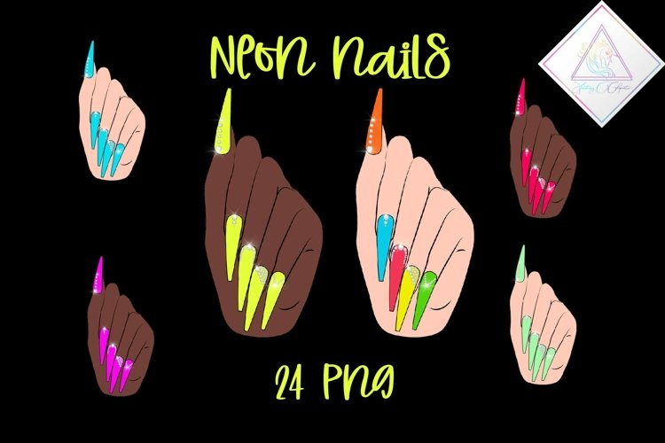 Neon Nails Clipart example image 1