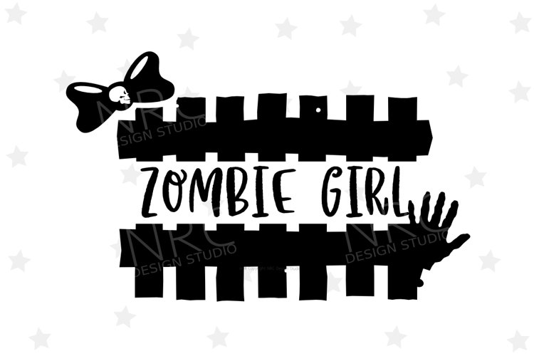 Zombie Girl SVG File