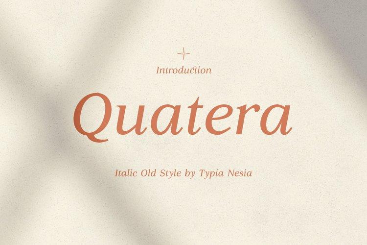 Quatera Italic example image 1