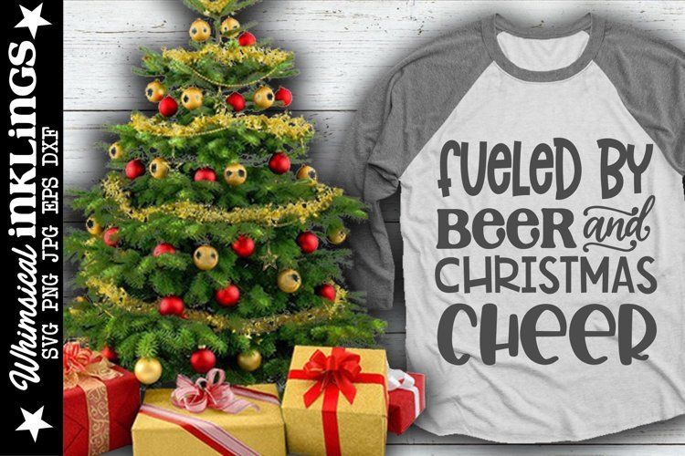 Beer And Christmas Cheer SVG example image 1