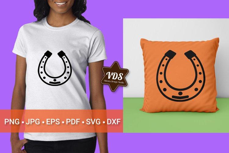 Horseshoe. Good luck symbol. SVG. Patricks Day.