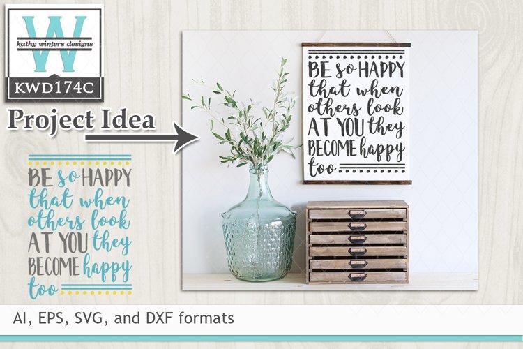 Happy SVG - Be So Happy example image 1