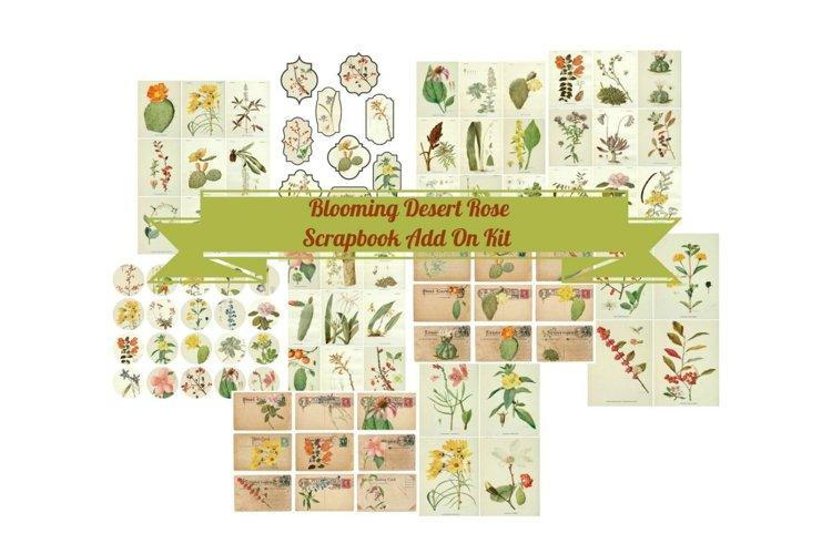 Blooming Desert Rose Botanical Journal Scrapbook Kit example image 1